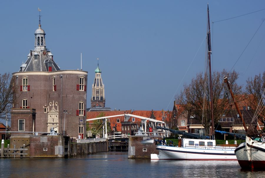 Enkhuizen water tower and harbor