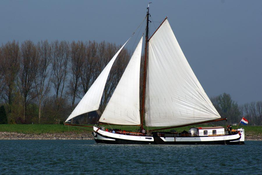 Classic Dutch shallow-draft sailing barge