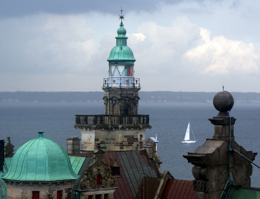 View across to Sweden from the ramparts of Kronberg castle in Helsingør