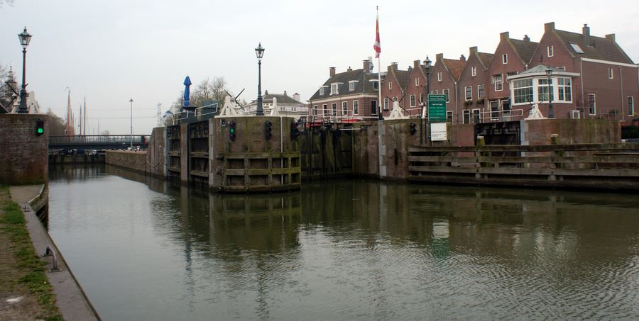 The lock gate at Muiden